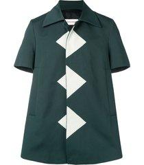 namacheko triangle patch shirt - green