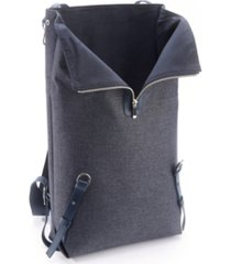 royce new york leather flannel mixed media backpack