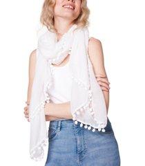 steve madden pom-pom scarf