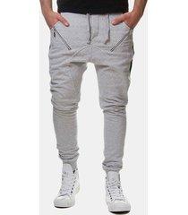 pareggiatore da uomo elastico in vita traspirante con coulisse pantaloni sottile misura casual idoneità running pantaloni