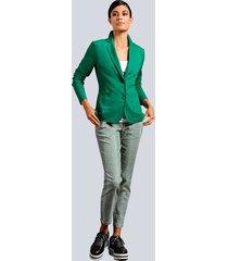 broek alba moda zwart::wit::groen