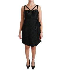 stretch jacquard mini jurk