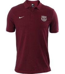camiseta polo nike fc barcelona piqué - bordó