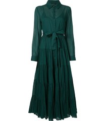 mes demoiselles flared shirt dress - green