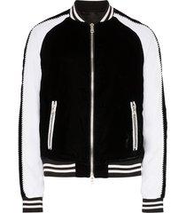 balmain teddy bomber jacket - black
