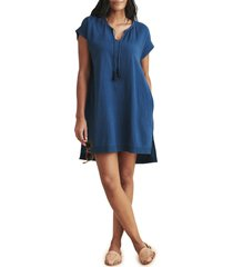 faherty ninie organic cotton shift dress, size large in majolica blue at nordstrom