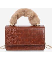 animal patterned pu leather flap crossbody bag
