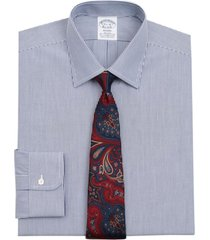 camisa stretch regent fitted azul brooks brothers