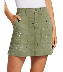 nsf women's goldie painted mini skirt - paint fatigue - size 28 (4-6)