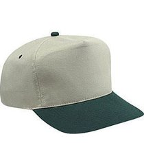otto brushed cotton blend twill five panel high crown baseball cap (color-dk.grn