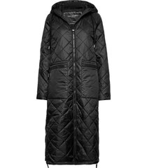 padded coat gevoerde lange jas zwart ilse jacobsen