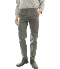 pantalón casual dril elástico slim aranzazu epsilon gris oscuro