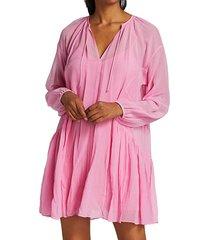 melody silk blend mini dress