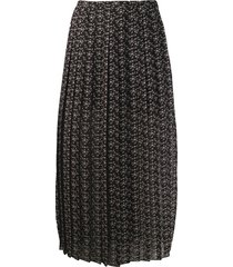 see by chloé micro bisou print skirt - black