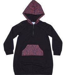 lanvin logo print hoodie dress
