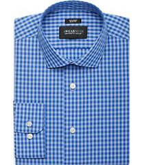 awearness kenneth cole blue plaid slim fit dress shirt