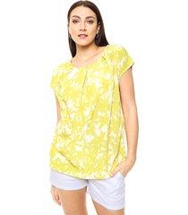 blusa amarilla etam jeans lunares