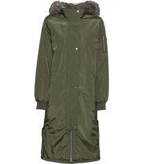 cappotto con cappuccio e bottoni a pressione ai lati (verde) - rainbow