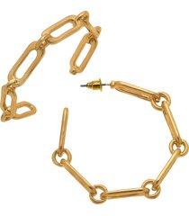 women's canvas jewelry nora chain link hoop earrings