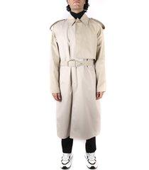 bottega veneta water repellent trench coat in beige cotton blend