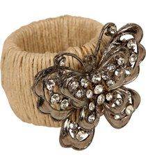 porta-guardanapo artesanal de metal com pedras papillon