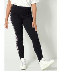 legging janet & joyce zwart::wit