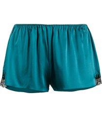 gilda & pearl lace pyjama shorts - blue