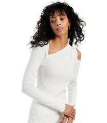inc asymmetrical cold-shoulder sweater, created for macy's