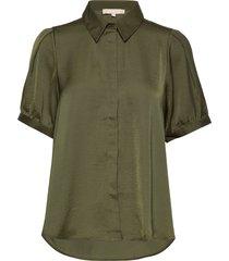 andrea 2/4 shirt blouses short-sleeved grön soft rebels