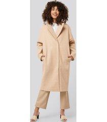 na-kd dropped shoulder coat - beige
