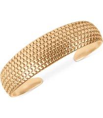 lucky brand gold-tone honeycomb cuff bracelet
