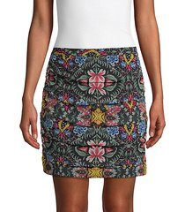adalynn floral pleated mini skirt