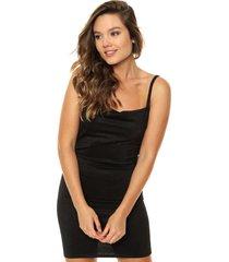 vestido negro nylon