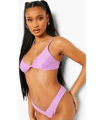 essentials opgeknoopte driehoekige bikini top, bright lilac