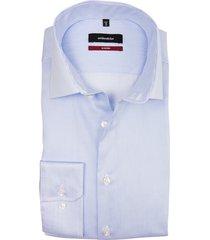 seidensticker modern shirt lichtblauw streep