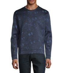 valentino garavani men's tonal print sweatshirt - army - size m