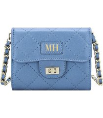 billetera con tapa abullonado azul medianoteens