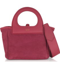 max mara designer handbags, two-tone reversible nano top handle bag