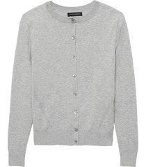 sweater stretch cotton cardigan gris banana republic