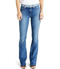 women's etica kelly slit bootcut jeans, size 26 - blue