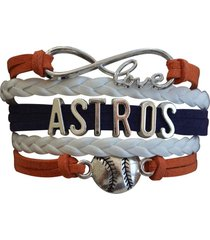 houston astros bracelet, houston astros jewelry and perfect baseball fan gift