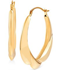 small sculptural draped hoop earrings in 14k gold