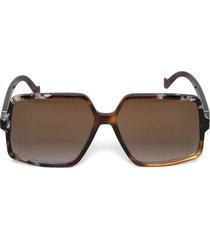 patchwork front square sunglasses