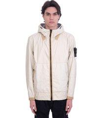 stone island casual jacket in beige polyamide