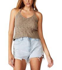 cotton on crochet halter tank top