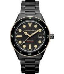 spinnaker men's cahill mid-size automatic black stainless steel bracelet watch 40mm