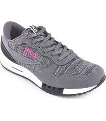 zapatilla gris fila urban euro jogger