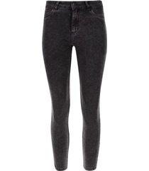 jean pitillo gris color negro, talla 10