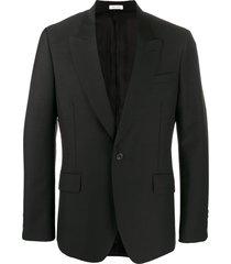 alexander mcqueen fitted buttoned blazer - black