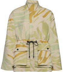 imani, 1116 zebra douchesse zomerjas dunne jas groen stine goya